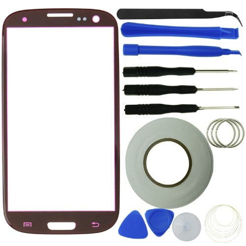 Eco-Fused Screen Replacement Kit for Samsung Galaxy S3 including Replacement Glass / Tool Kit / Adhesive Sticker Tape / Tweezers / Microfiber Cleaning Cloth / Instruction Manual (Galaxy S3 Red Screen Repair Kit compare prices)
