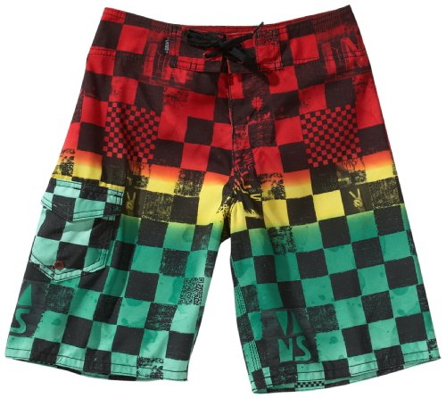 Vans, Pantaloni corti Bambino Off The Wall Board, Multicolore (rasta scan check), 44