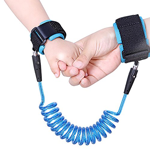 Elifunz Baby Child Anti Lost Safety Velcro Wrist Link (Blue,2.5m) (Kids Safety Knob compare prices)