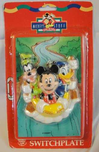 Mickey's Stuff for Kids Decorative Switchplate with Mickey, Goofy and Donald Duck