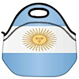 Snoogg Argentina Flag 2981 Travel Outdoor Carry Lunch Bag Picnic Tote Box Container Zip Out Removable Carry Lunchbox Handle Tote Lunch Bag Food Bag For School Work Office