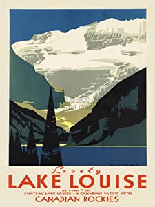 TRAVEL TOURISM LOVELY LAKE LOUISE CANADA ART POSTER PRINT 18X24'' PLAKAT DRUCKEN LV4215