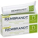 Rembrandt Fluoride Toothpaste, Mint - 2.6 oz - 2 pk