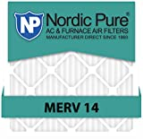 Nordic Pure 16x25x4M14-1 Pleated AC Furnace Air Filter, Box of 1
