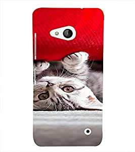 PrintVisa Cute Kitty Design 3D Hard Polycarbonate Designer Back Case Cover for Nokia Lumia 550