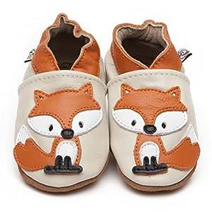 Suaves Zapatos De Cuero Del Bebé Zorro 6-12 meses en BebeHogar.com