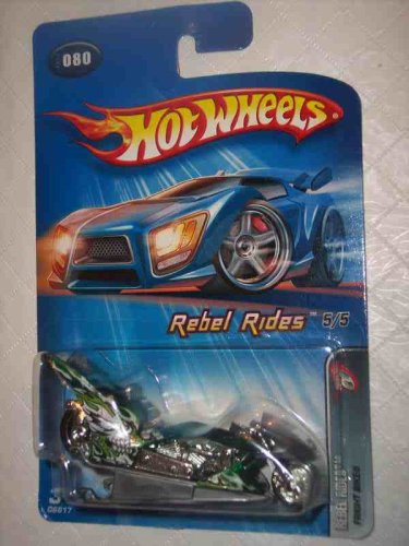 Rebel Rides Series #5 Fright Bike #2005-80 Collectible Collector Car Mattel Hot Wheels 1:64 Scale - 1