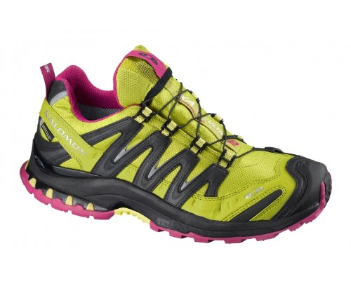 SALOMON XA Pro 3D Ultra 2 GTX Ladies Trail Running Shoes, Green/Black, US10.5