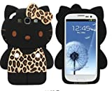 Galaxy S3/Hello Kitty 3D Silicon Case for Samsung Galaxy S3 III(AT&T,Verizon,Sprint,T-Mobile)24K Gold Electromagnetic Waves Shield Sticker-Brown