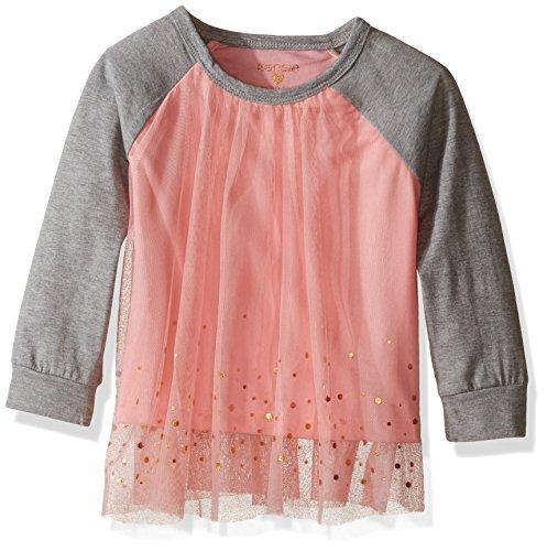 kensie-big-girls-fashion-copper-print-sparkle-pullover-top-peach-heather-grey-14-16
