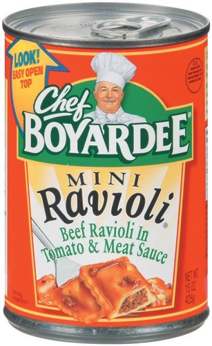 Chef Boyardee  Mini Ravioli, 15-Ounce Units (Pack of 24)
