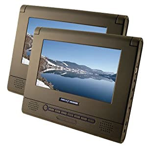 Nextbase SDV47AM - Twin Screen 7-inch Portable DVD Player - Includes Car Mount and Travel Accessories