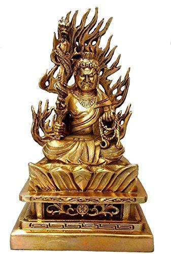 仏像 不動明王坐像 黄銅製/お不動さん◆怨敵調伏、勝負必勝、立身出世、商売繁盛 ご利益