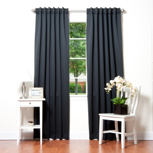 Solid Thermal Insulated Blackout Curtain 84 L 1 Set Blackbed Bath And Beyond Curtains