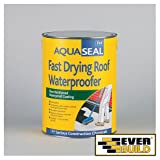 4x Everbuild AQUASEAL FAST DRY ROOF W/P Feb Aquaseal Waterproofing Products - 5LTR