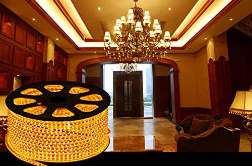 Best To Buy® 6.4 Feet (5 Meter) Flexible Led Light Strip With 300Xsmd5730 And Adhesive Back, 12 Volt, Warm White 3100K