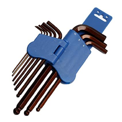 8PK-028 Ball Point Hex Key Set (9 Pc)