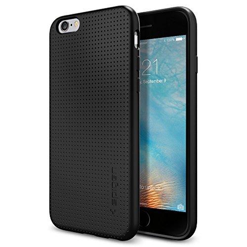 【Spigen】 iPhone6s ケース / iPhone6 ケース カプセル [ ソフト TPU ] アイフォン6s / 6 用 米軍MIL規格取得 耐衝撃カバー (ブラック SGP11751)