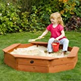Plum Octagonal Childrens Sand Pit with Cover