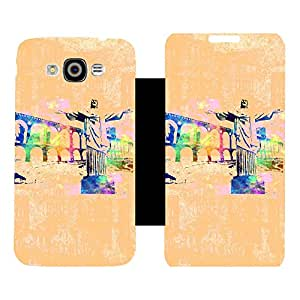 Phone Candy Designer Flip Cover with hi-res printed Vinyl sticker wrap-around for Samsung Galaxy Grand 3/Max