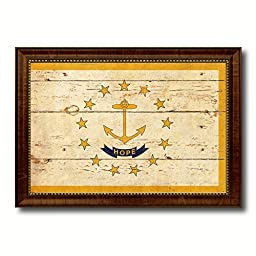 Rhode Island State Vintage Flag Art Collection Western Shabby Cottage Chic Interior Design Office Wall Home Decor Gift Ideas, 23\