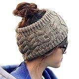 MERSUII Wool Knitting Knitted Women Lady Girl Hat Headgear Crochet Flora Headband Head Wrap Hair Band Hairband
