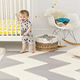 Skip Hop Baby Infant and Toddler Geo Playspot Foam Floor Tile Playmat, Grey - White, Chevron