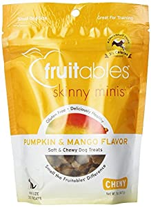 Fruitables Pumpkin & Mango Skinny Mini Dog Treats 5-Ounce (3 Pack)