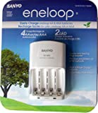 SANYO Eneloop 4-Position Ni-MH Rechargeable Battery Charger White