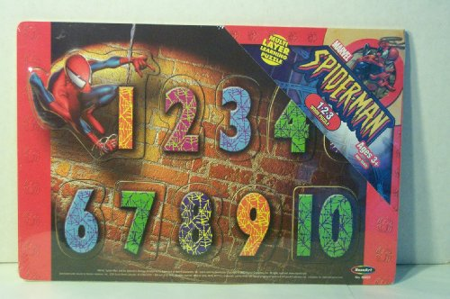 Picture of Rose Art Industries Wooden 123 Number Puzzle Marvel Spider-Man (B002P8F03M) (Pegged Puzzles)