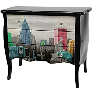Amazon.com: Oriental Furniture Colorful NYC Three Drawer