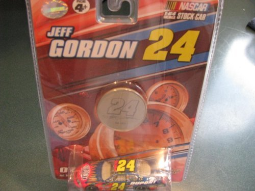 2007 Jeff Gordon #24 Dupont Monte Carlo Flames 1/64 Scale & Bonus 2 Sided Medallion Edition Winners Circle