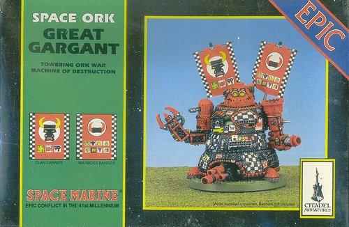 EPIC Space Marine Space Ork Great Gargant New! Sealed!
