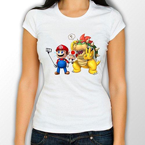 Super Mario parodia-Primo Let me prendere un Selfie Super Mario maglietta da donna White XX-Large