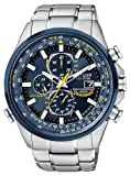 """Citizen Mens AT8020-54L """"Blue Angels"""" Stainless Steel Eco-Drive Dress Watch"""