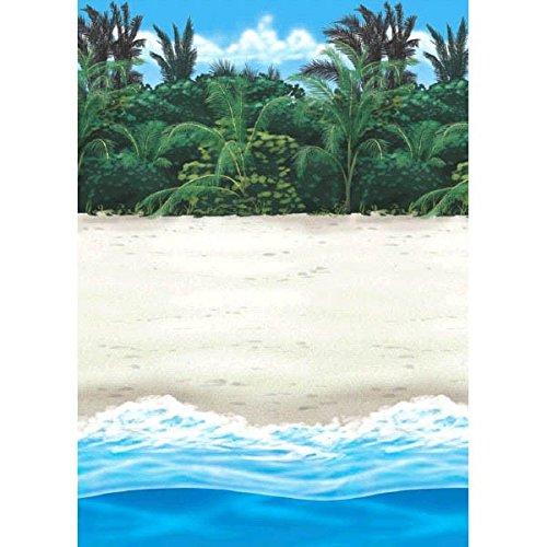 amscan-rouleau-de-decoration-murale-hawai-plage-hawaienne-taille-unique