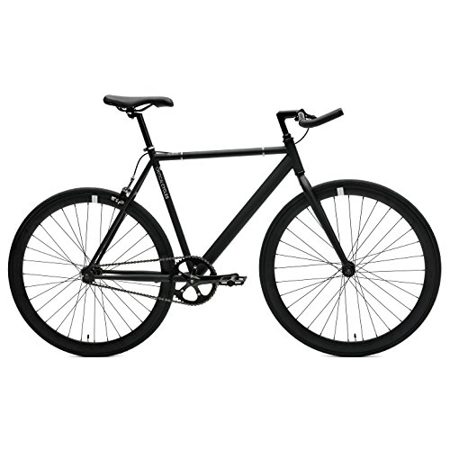 Critical Cycles Classic Fixed-Gear Single-Speed Track Bike with Pursuit Bullhorn Bars, Matte Black, 57cm/Large (Gear Cycles compare prices)