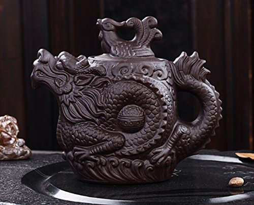 Fanala CeramicTeapot Chinese Tea Cup Dragon and Phoenix Tea kettle Premium Tea Infuser Purple Clay Tea Set Kung Fu Tea Set (Chinese Iron Tea Kettle compare prices)
