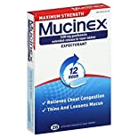 Mucinex Expectorant, 12 Hour, Maximum Strength, 1200 mg, Extended-Release Bi-Layer Tablets, 28 tablets