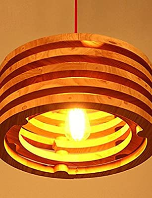 qiuxi High-end fashion Interior Ceiling lamp Willow Wood Lamp Chandelier Wooden Balcony Restaurant Bar , white-110-120v