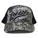 3D London Logo Design Glitter Baseball Cap