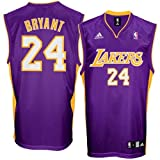 Kobe Bryant Jersey: adidas Purple Replica #24 Los Angeles Lakers Jersey