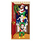Beistle Christmas Elves Door Cover, 30 by 5-Inch, MulticolorBeistle Christmas Elves Door Cover, 30 by 5-Inch, Multicolor