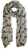 Cream Labrador Dog Scarf Ladies Fashion Scarves With Hanging Heart Gift