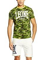 Leone 1947 Camiseta Manga Corta Lsm919/S16 (Verde / Amarillo)