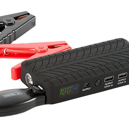 Portable Jumper Cables : Rugged geek portable lithium car jump starter jumper pack