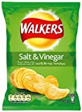 Walkers Crisps Salt and Vinegar 34.5 g (Pack of 48)
