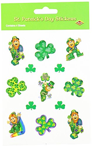 Leprechaun Stickers   (4 Shs/Pkg)