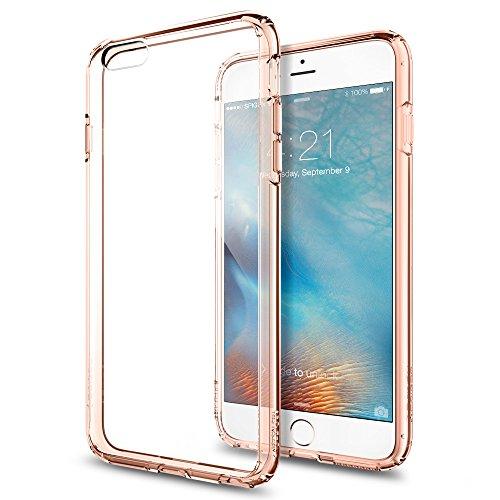 Spigen iPhone6s Plus ケース / iPhone6 Plus ケース, ウルトラ・ハイブリッド [ 背面 クリア ] アイフォン6s プラス / 6 プラス 用 米軍MIL規格取得 耐衝撃カバー (ローズ・クリスタル SGP11726)