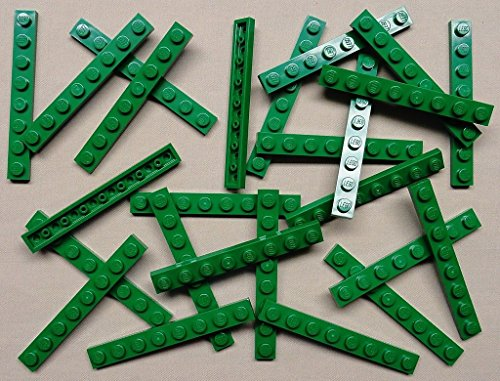 x25 NEW LEEGO Green Baseplates 1x8 Brick Building Plates (Leego Inc compare prices)